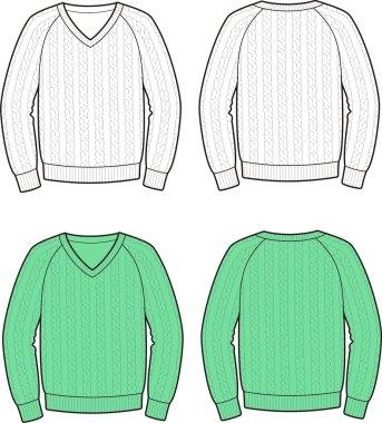 Vector illustration of men's jumper