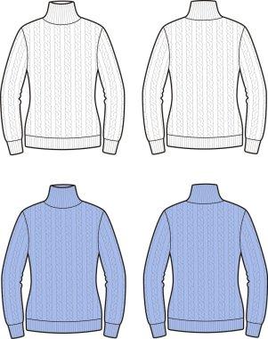 Vector illustration of women's sweater
