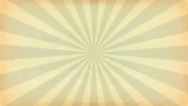 Vintage rays. Motion animation