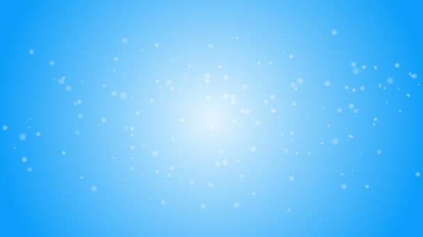 Snow flakes falling against blue background