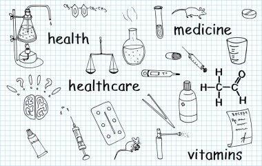 Medicine vector doodles