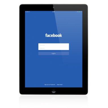 Facebook Login page on Apple iPad screen