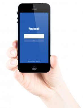 Facebook Login page on Apple iPhone 5s screen