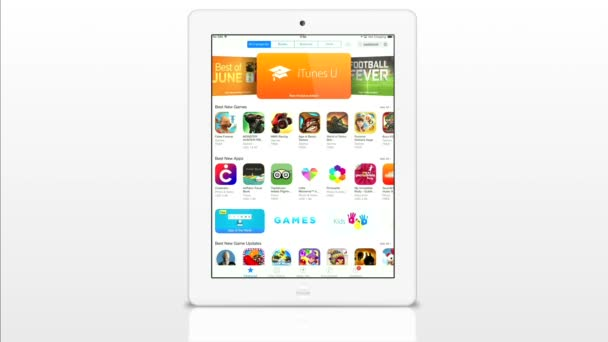 Apple store application on a white iPad display