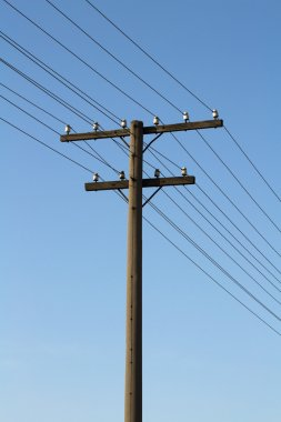 Old concrete electricity pylon