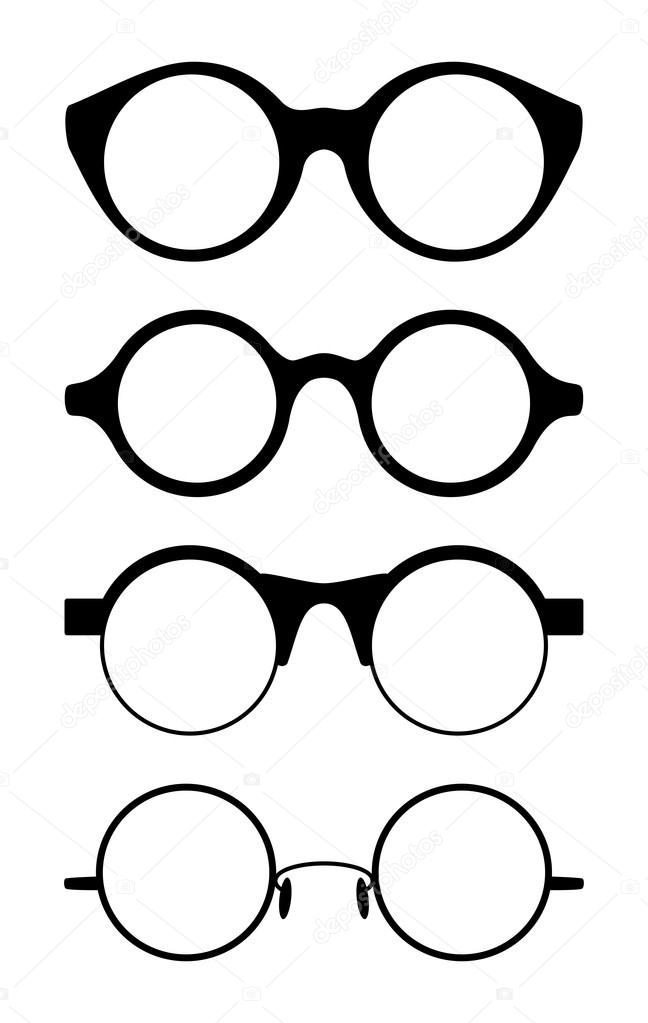 f7bba9d7495 Set of round vector spectacle frames — Stock Vector © Aleksandrsb ...