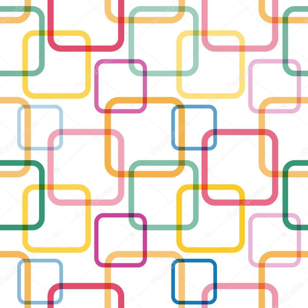 patrones sin fisuras con coloridas plazas — Archivo Imágenes ...