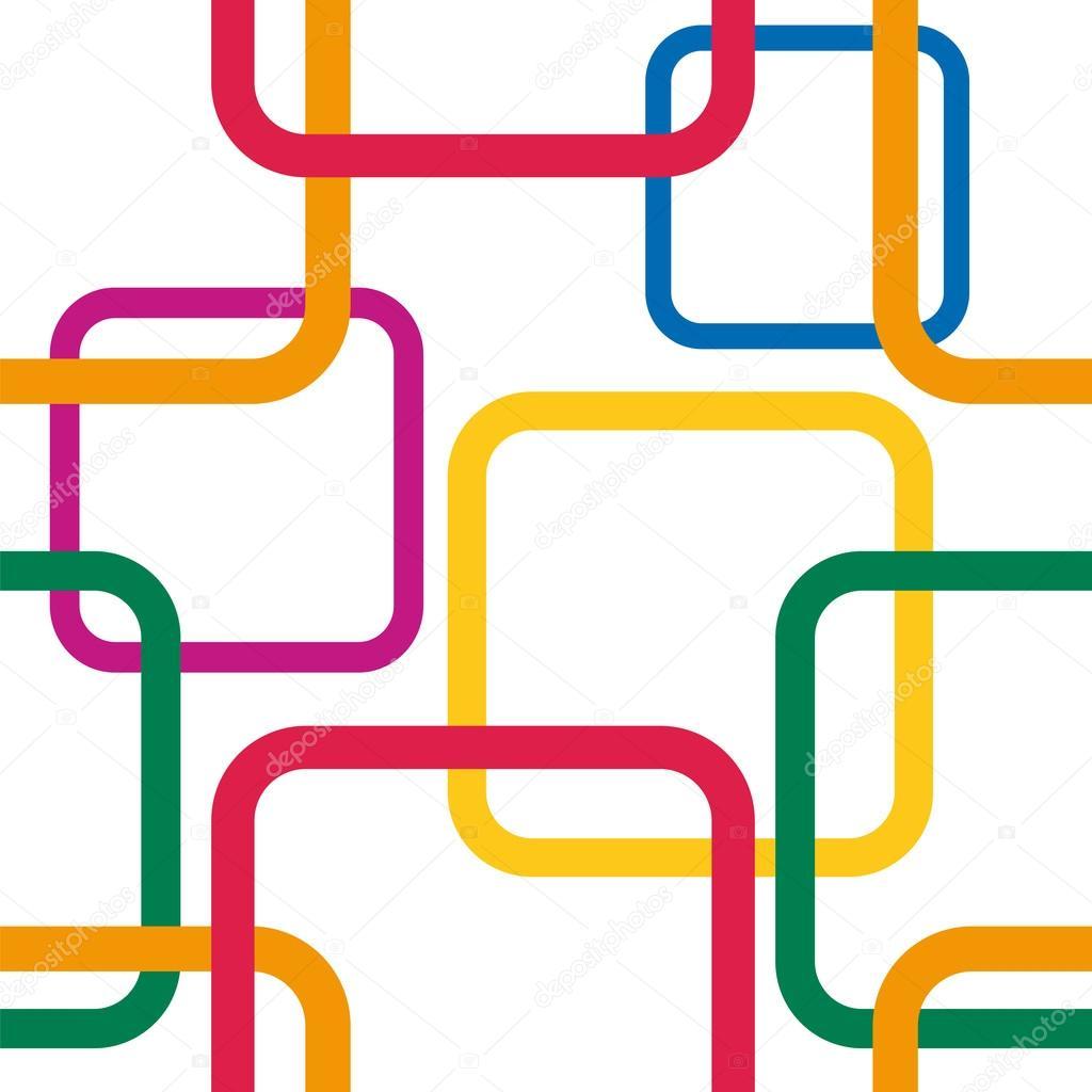 patrones sin fisuras con coloridas plazas — Vector de stock ...