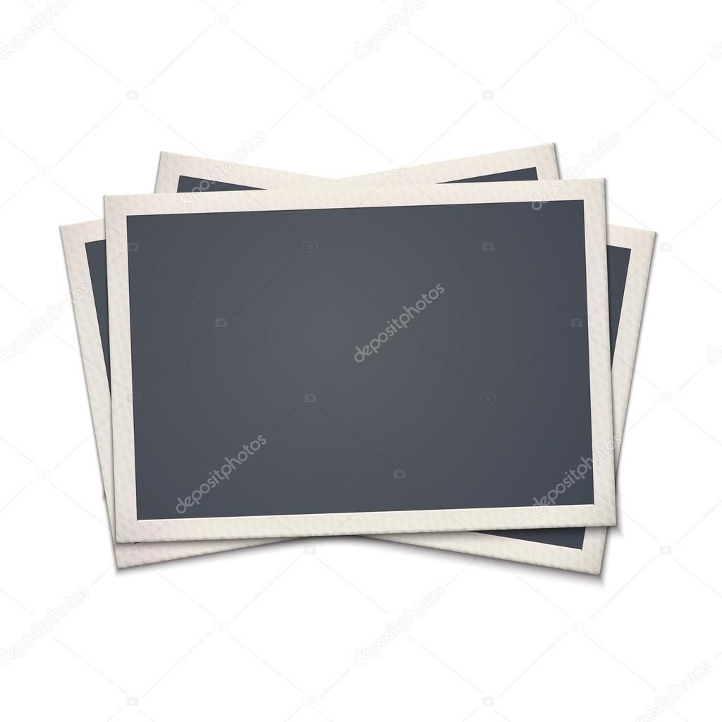 marco de fotos retro en blanco — Archivo Imágenes Vectoriales ...