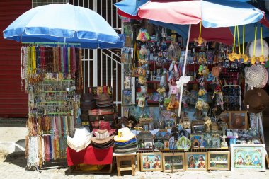 Market stall of souvenirs