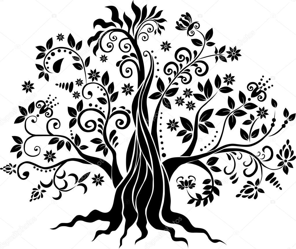 Fancy tree vector art