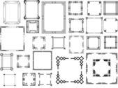 Fotografia set di diverso tipo di frame art deco