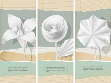 Paper flowers- banners
