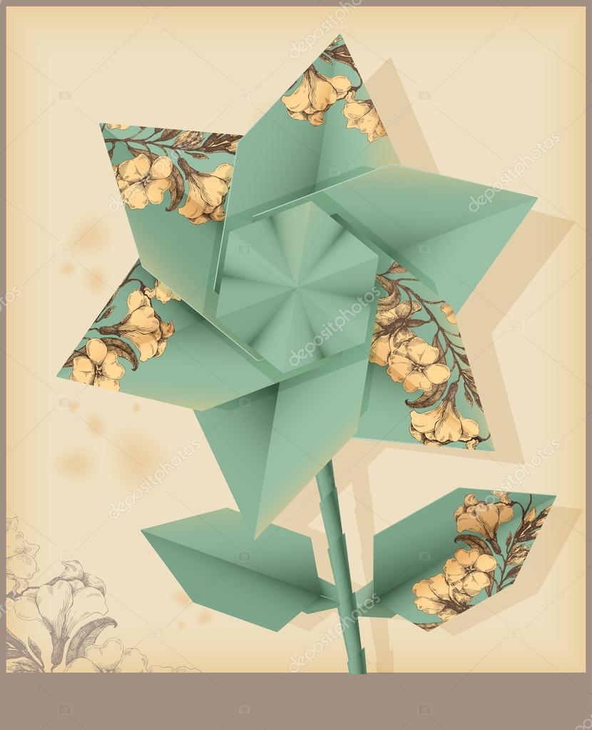 Origami flower star flower stock vector teacept 36962673 origami flower star flower stock vector mightylinksfo