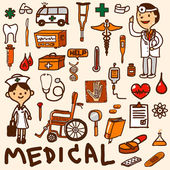 Photo Medical icon set cartoon