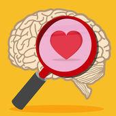 Photo Heart inside brain