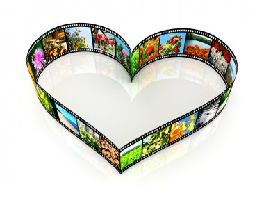 Heart shaped filmstrip