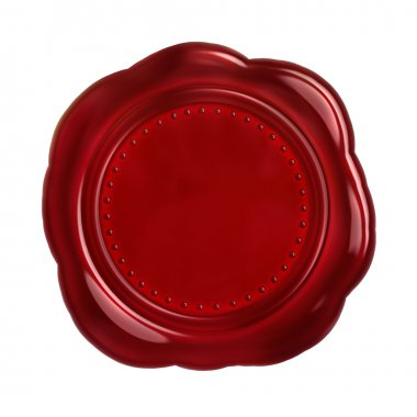 Red seal wax