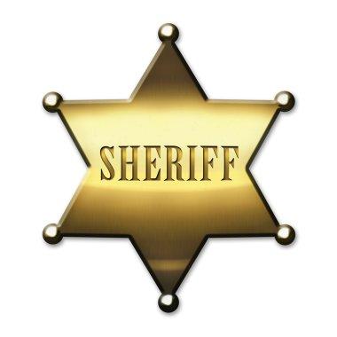Golden Sheriff Badge