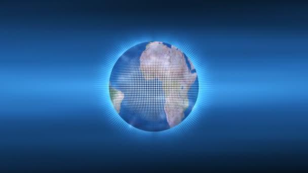 Globe map se odvíjíVértes portréja jóképű, meglepett fiatalember keres az ujjai, mint a távcső, keres valami, szeretnének a jövőben a kamerát, elszigetelt fehér background. pozitív