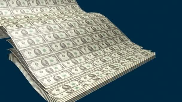 tisk na dolarové bankovky