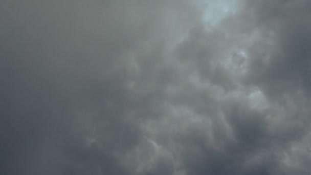 Lightning strike in dark storm clouds