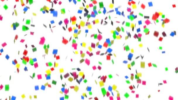 animace barevné konfety