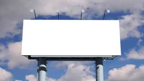Billboard s prázdnou obrazovkou