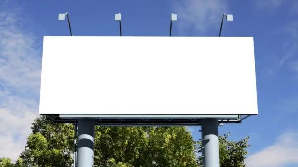 Óriásplakát, üres képernyő
