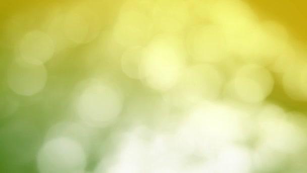 Yellow and green bokeh
