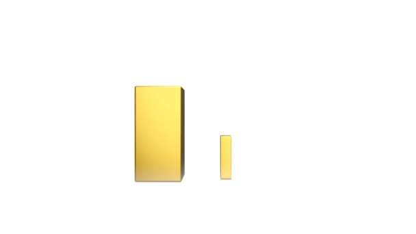 Gold bar and green arrow, financial growth