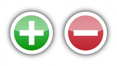 Add sign in green button and delete sign on red button