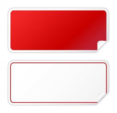 Black red sticker