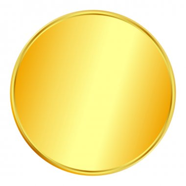 Blank gold coin