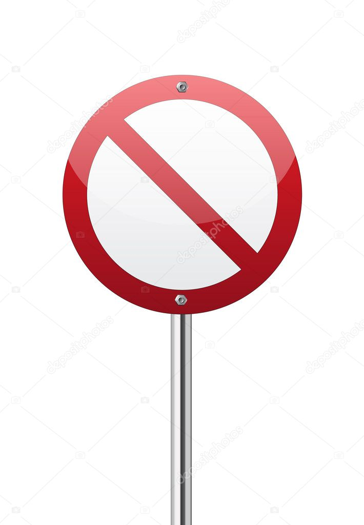 Red forbidden traffic sign