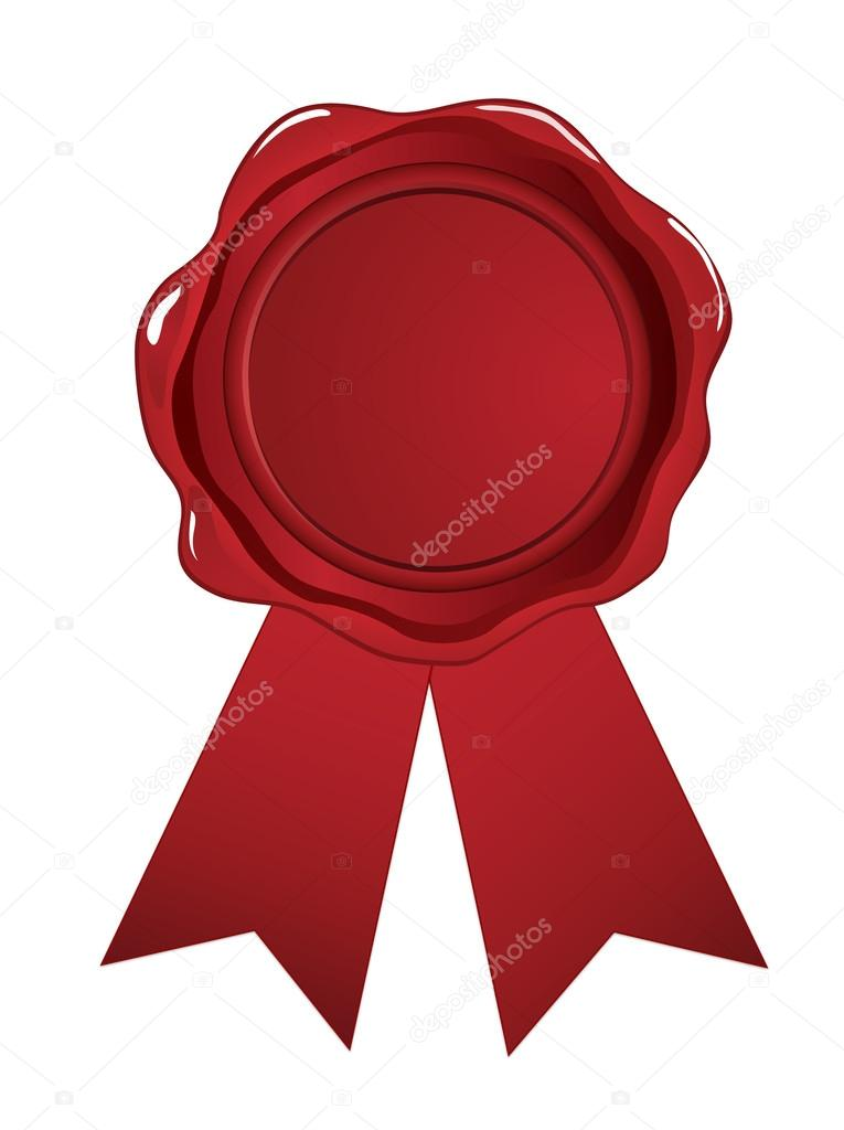 Red wax seal ribbon