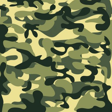 Classic Seamless Military Camouflage Pattern
