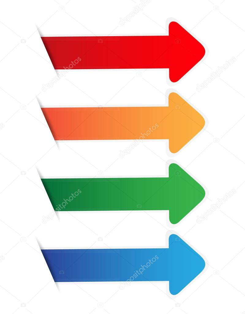 Color arrow blank tag — Stock Vector © pockygallery #23866629