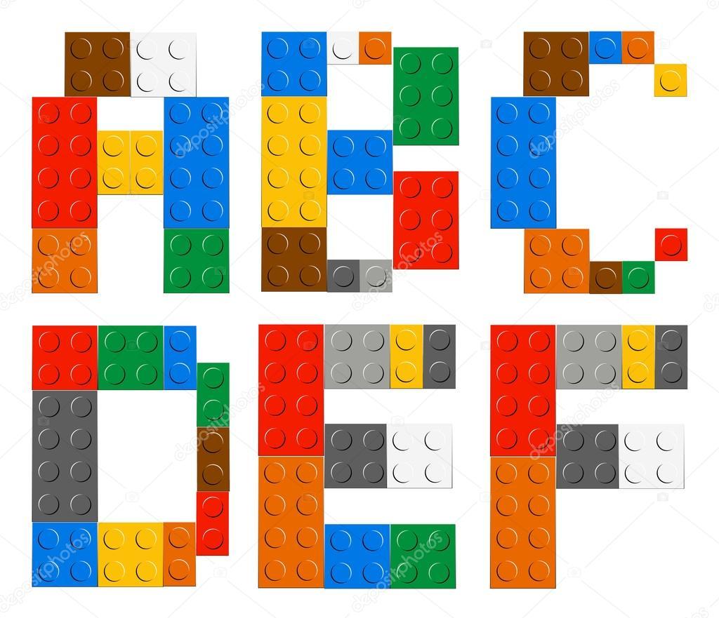 Brique jeu jouet alphabet lettres image vectorielle - Jouet alphabet ...