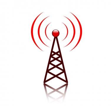 Red antenna mast sign