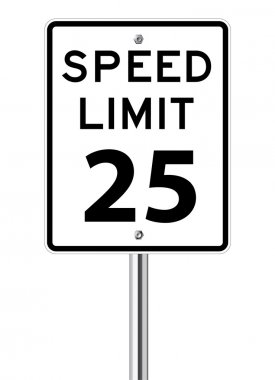 Speed limit 25 traffic sign