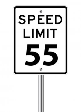 Speed limit 55 traffic sign