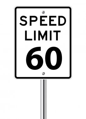 Speed limit 60 traffic