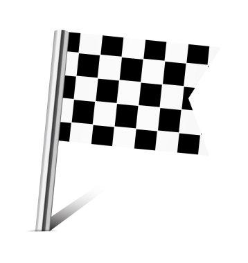Checkered Racing flag pin