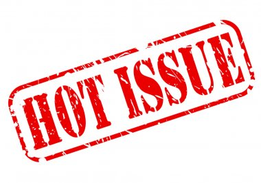 Hot issue red stamp text