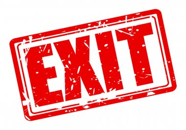 EXIT red stamp text