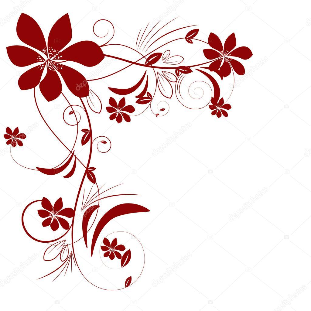 Abstract Beautiful Flowers Creative Design Stock Vector Evryka23