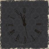 Fotografie alte Uhr mit römischen Zahlen Grunge hintergrund