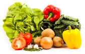 verdure fresche, isolate su sfondo bianco