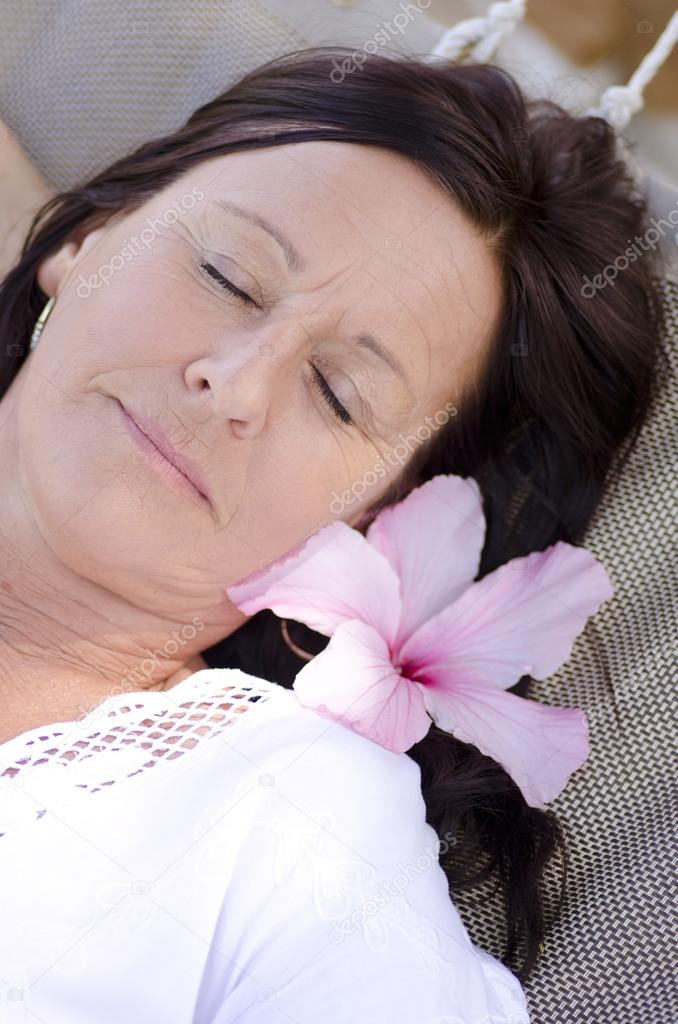 Old Tired Man Sleeping Image Photo